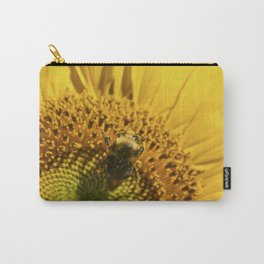 Bumble Bee in Sunflower Carry-All Pouch