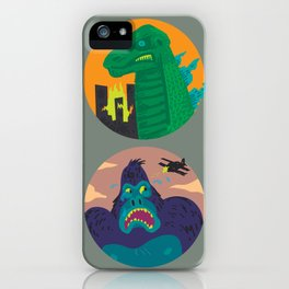 More Godzilla, Less King Kong iPhone Case
