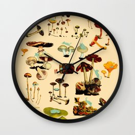 Cats and Spaceshrooms Wall Clock