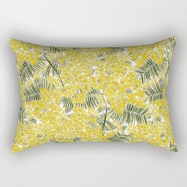 Yellow Mimosa Rectangular Pillow