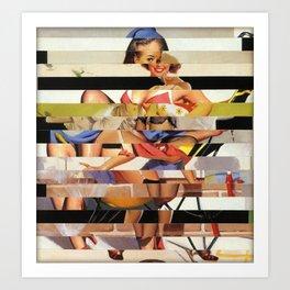Glitch Pin-Up Redux: Gwen Art Print