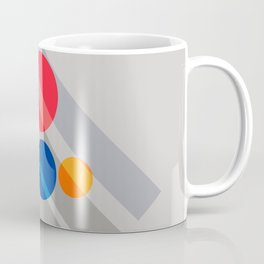 Abstract Suprematism Equilibrium Art Red Blue Yellow Coffee Mug