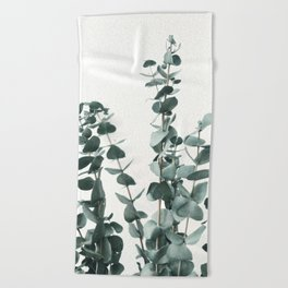 Eucalyptus Leaves Beach Towel