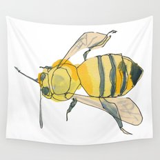 bee no. 2x2 Wall Tapestry