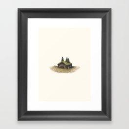 Overgrown - Cabin Framed Art Print