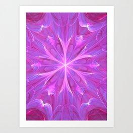 Geometric Digital Abstract - Glow Star Art Print