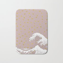 Rolling Waves in Gold Bath Mat