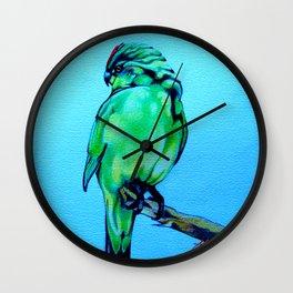 Kakariki - The NZ Red-Crowned Parakeet Wall Clock