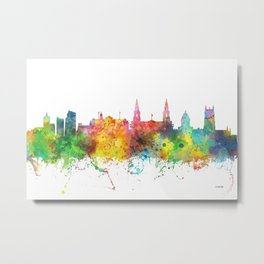 LEEDS, UK SKYLINE Metal Print