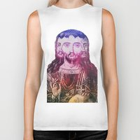 christ Biker Tanks featuring Thrice Christ by EclecticArtistACS