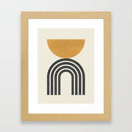 Mid century modern - half sun arch Framed Art Print