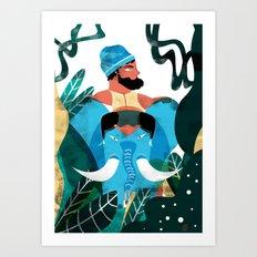 INDIAN ATMOSPHERE Art Print