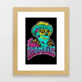 Fear the Zombie Framed Art Print