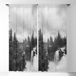 Athabasca Falls Blackout Curtain