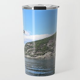 Roger's Rock on Lake George in the Adirondacks Travel Mug