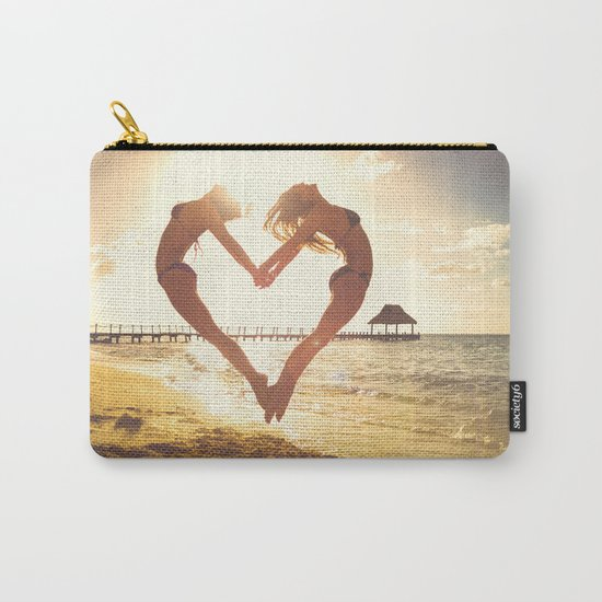 heart beach holiday 5 Carry-All Pouch