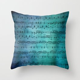 Painted Music Throw Pillow