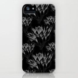 Black King Protea iPhone Case