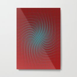 Polka dots with a twist (red) Metal Print