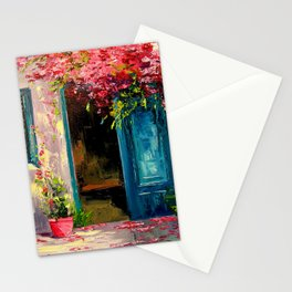 Flower-filled patio Stationery Cards