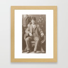 Butch Cassidy - Outlaw Portrait Framed Art Print