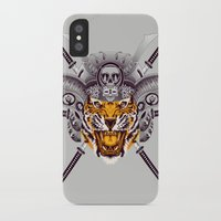 tigger iPhone & iPod Cases featuring Tiger Warrior by rendhy wahyu