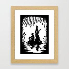 Lady White Snake Framed Art Print