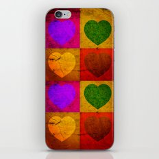 FOUR HEARTS FOR VALENTINE'S DAY iPhone & iPod Skin