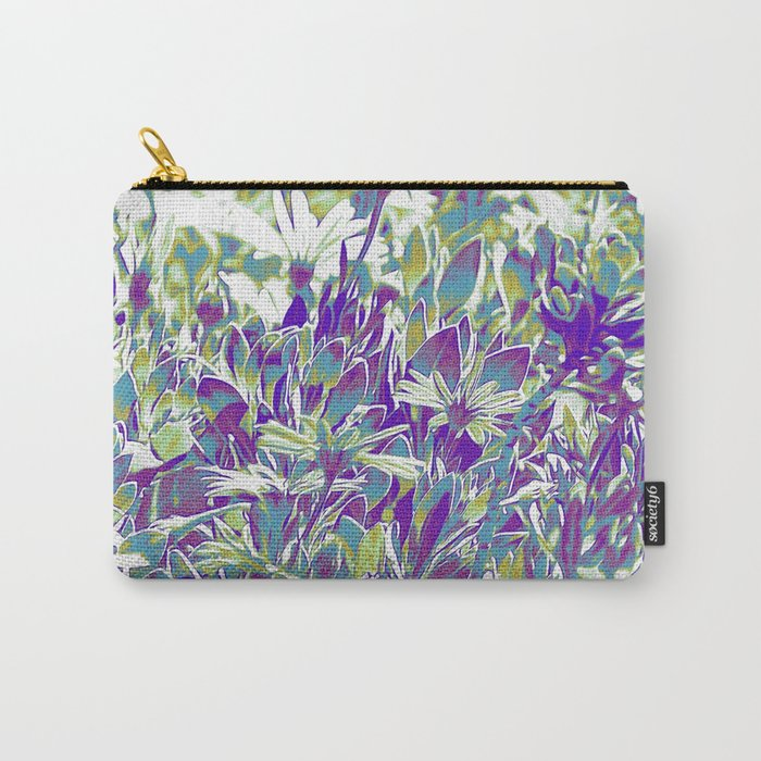 Popped Field of Daisies Carry-All Pouch