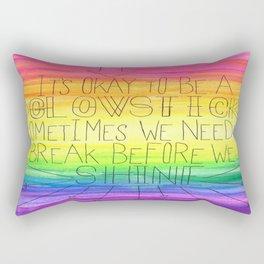 Okay To Be a Glowstick Rectangular Pillow