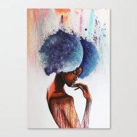 waterfall Canvas Prints featuring Waterfall  by Sebastian Wandl