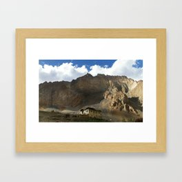 Under the shadows of the moutains Framed Art Print
