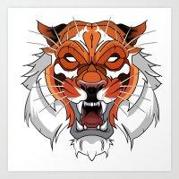 Tiger vector art Art Print