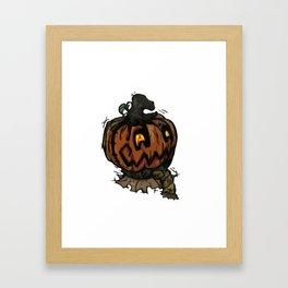 Patchwork Jack o' lantern Framed Art Print