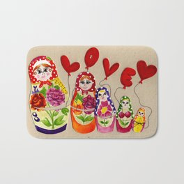 From Russia with Love Russian Dolls Bath Mat