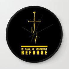 In case of emergency reforge Wall Clock