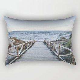 """Walking to the beach....."" At sunset Rectangular Pillow"