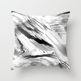 Modern Abstract - Black and White Throw Pillow