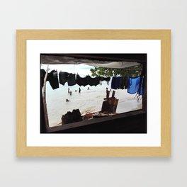 No Mercy Window Framed Art Print