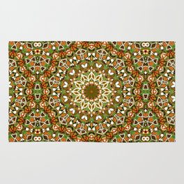Colorful ethnic ornament . Rug