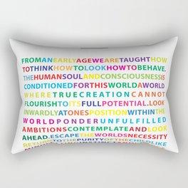 The Creative Act Rectangular Pillow
