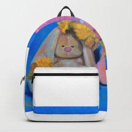 Flower Power, art print, teddy bear art, music teacher, music wall art, bunny girl, gift for her Backpack