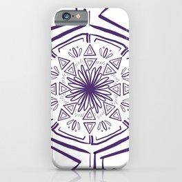 Purple Line Art Mandala iPhone Case
