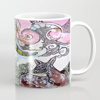 fawn Mugs featuring Fawn by Dawn Patel Art