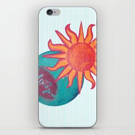 zakiaz unity baby blue sun moon iPhone Skin