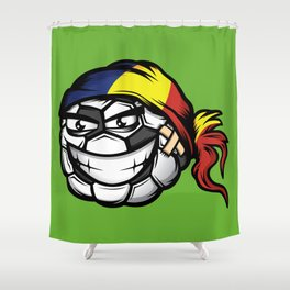 Football - Romania Shower Curtain