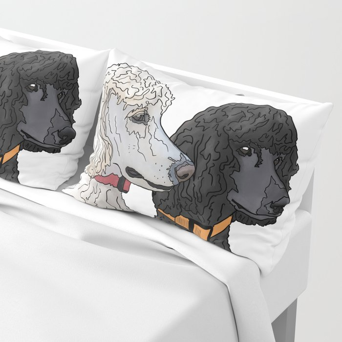 Pair of Poodles Pillow Sham