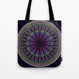 Floral mandala with tribal patterns Tote Bag