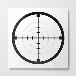 sniper black finder target symbol bull eye Metal Print