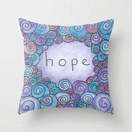Hope (Little Tiles Series #1) Throw Pillow